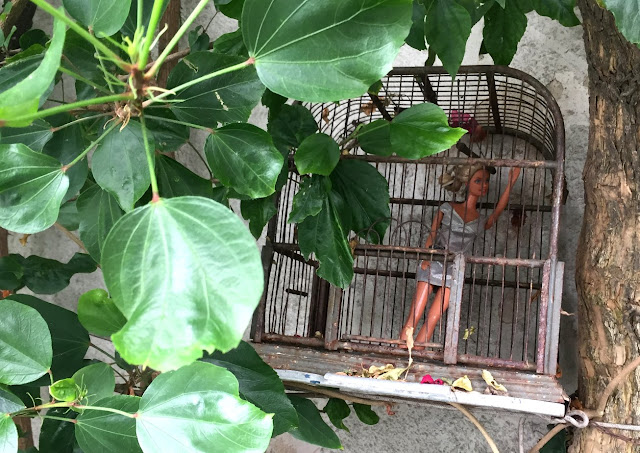 Barbie in cage