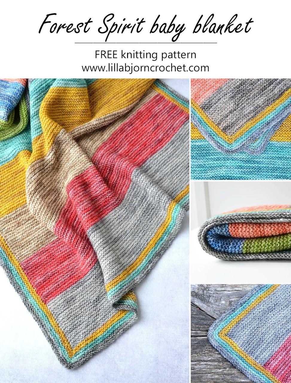 Forest Spirit baby blanket_FREE crochet pattern_www.lillabjorncrochet.com