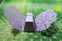 falten: 50pcs Wedding Candy Boxes Butterfly Laser Cut Kartonage Schachtel Bonboniere Geschenkbox Hochzeit (Purple)