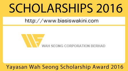 The Yayasan Wah Seong Scholarship Awards 2016