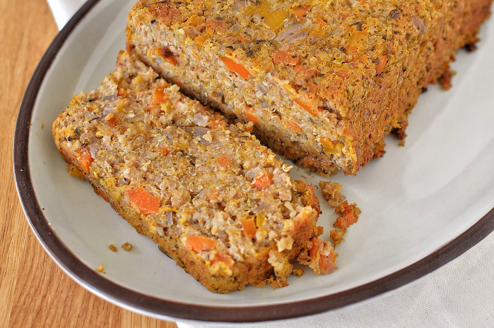 Butternut Squash, Carrot & Quinoa Nut Roast sliced