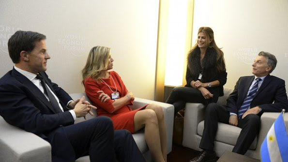 Her Majesty, Dutch Queen Maxima At The 2016 World Economic Forum