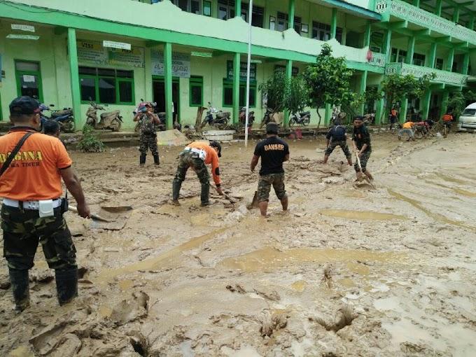 Pasca Banjir dan Longsor Pacitan, Banser Gerak Cepat Bantu Korban
