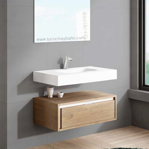 Mueble lavabo suspendido dise os arquitect nicos for Mueble 2 lavabos