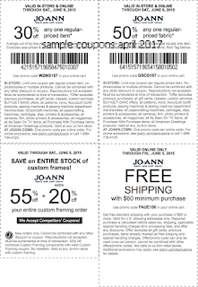 Joann coupons for april 2017