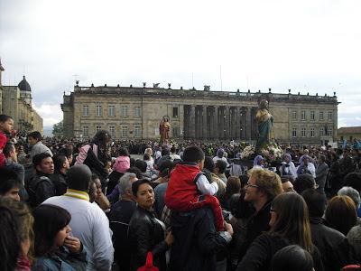Bogotanos 'enjoying' Easter celebrations in the Colombian capital