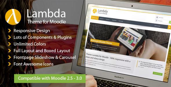 Download Lambda - Responsive Moodle Theme Free