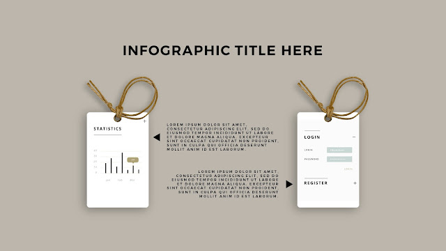 Free PowerPoint Template with Realistic Label Tag Mockups and Infographics Slide 3