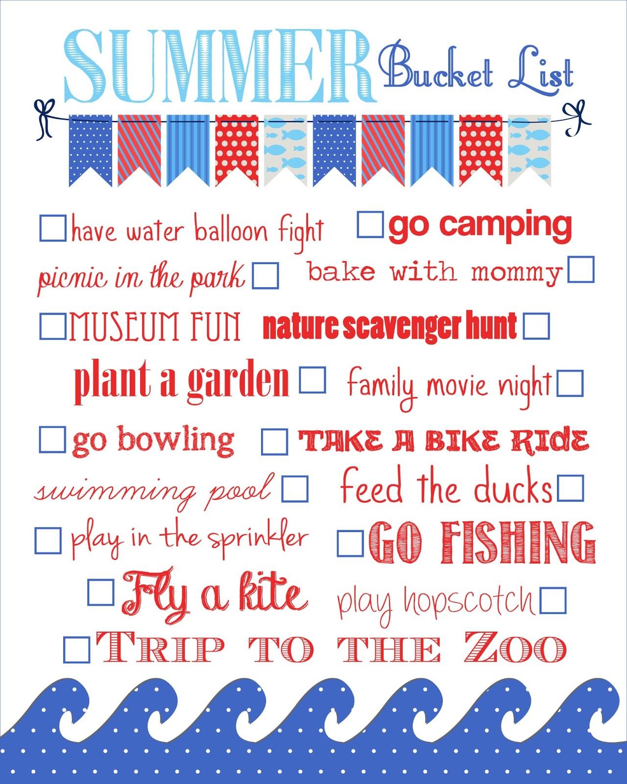 Life On The Homestead: {Summer Time Bucket List}