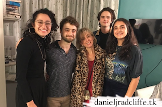 Mitra Jouhari and Geraldine Viswanathan visit Daniel Radcliffe at The Lifespan of a Fact