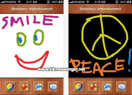 Explota tu lado artístico con Sketchee Plus para Kik Messenger