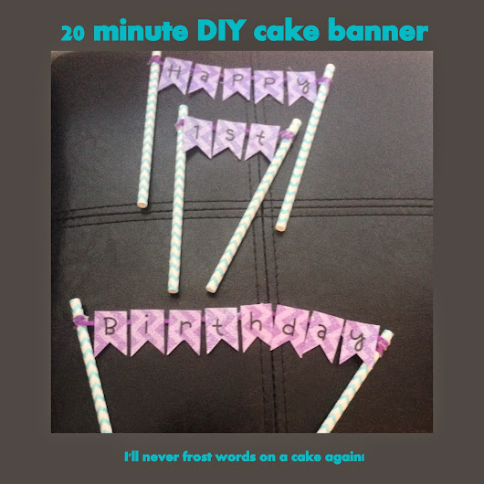 BIRTHDAY CAKE BANNER: Aisley's 1st Birthday