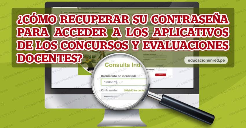MINEDU: Cómo recuperar la Clave para ver los Resultados del Examen de Ascenso 2019 [VIDEO] www.minedu.gob.pe