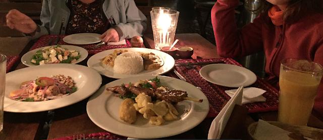 cena en Restaurante Pachapapa, Cuzco