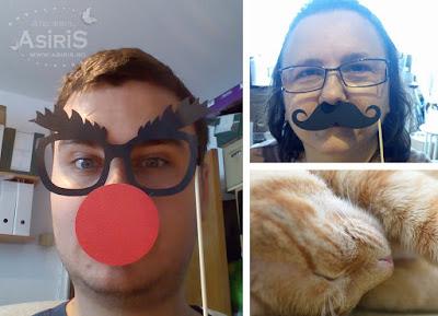 Poze haioase cu echipa Asiris - Vlad, Adriana si Simba pisica