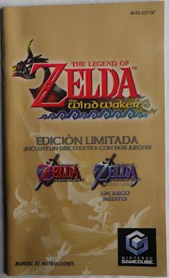 The Legend of Zelda - The Wind Waker - Manual portada