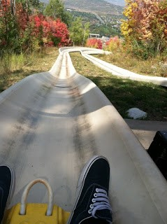 Ride the Alpine slides park city during the summer in Utah