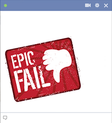 Epic fail Facebook emoticon