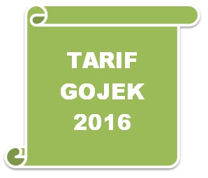 tarif gojek 2016, tarif gojek online 2016