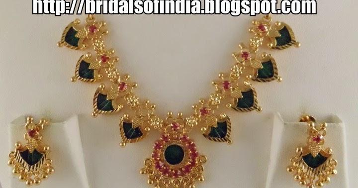 Fashion world: Kerala traditional jewellery - palakka mala set
