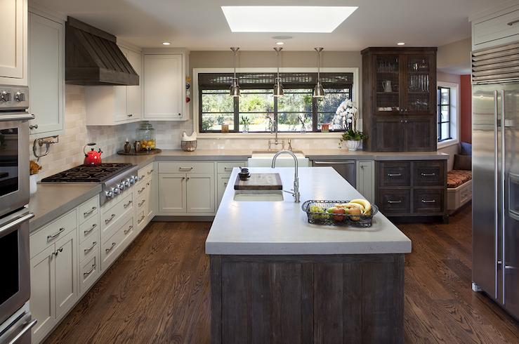 The Granite Gurus Faq Friday Two Toned Kitchen Countertops