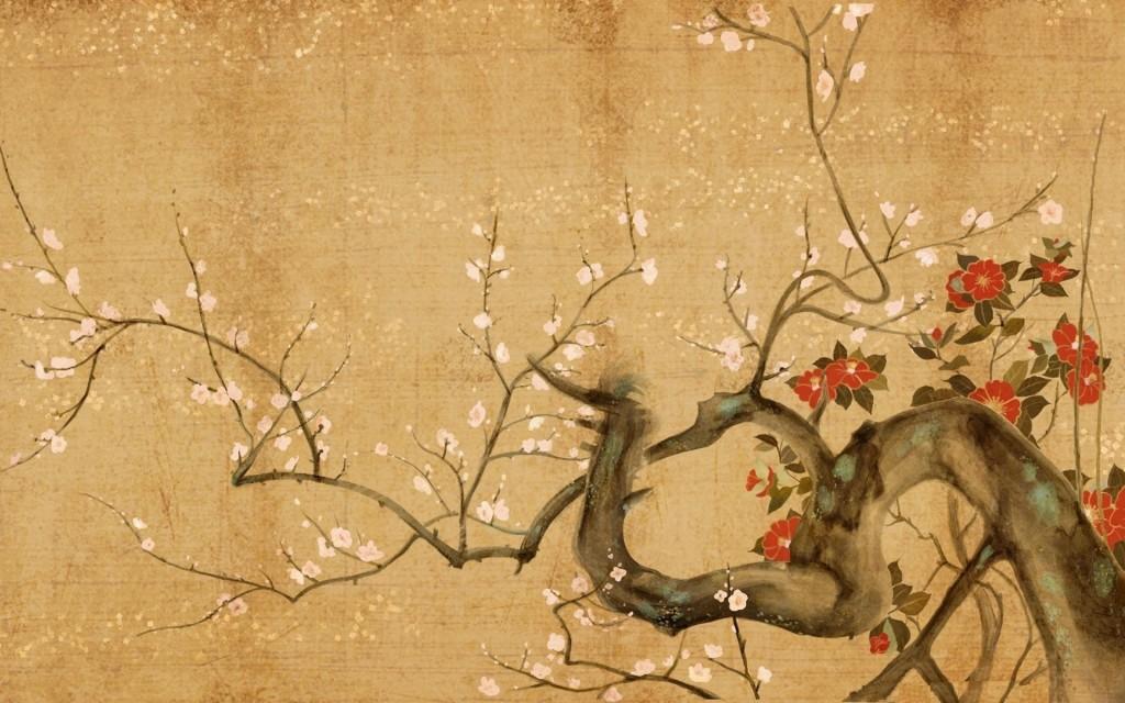 Asian Art Flowers 9