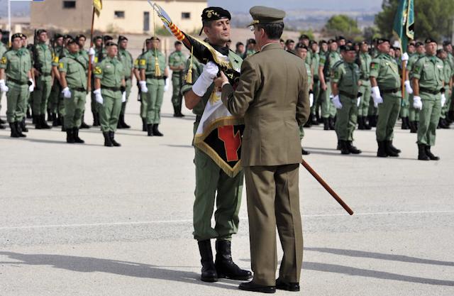 Acto oficial de creación del Regimiento de Infantería 'Zaragoza' nº5