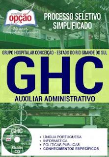 Apostila GHC Processo Seletivo - Auxiliar Administrativo