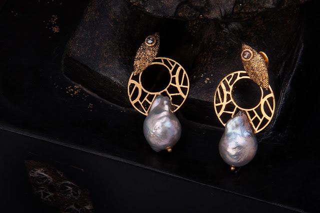 Nisarga Dvija Pearl Earrings