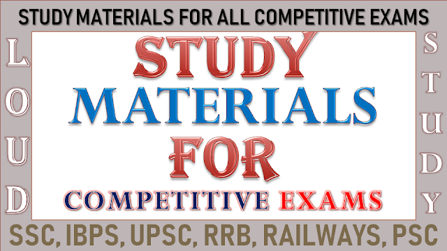 Study Materials for Competitive Exams