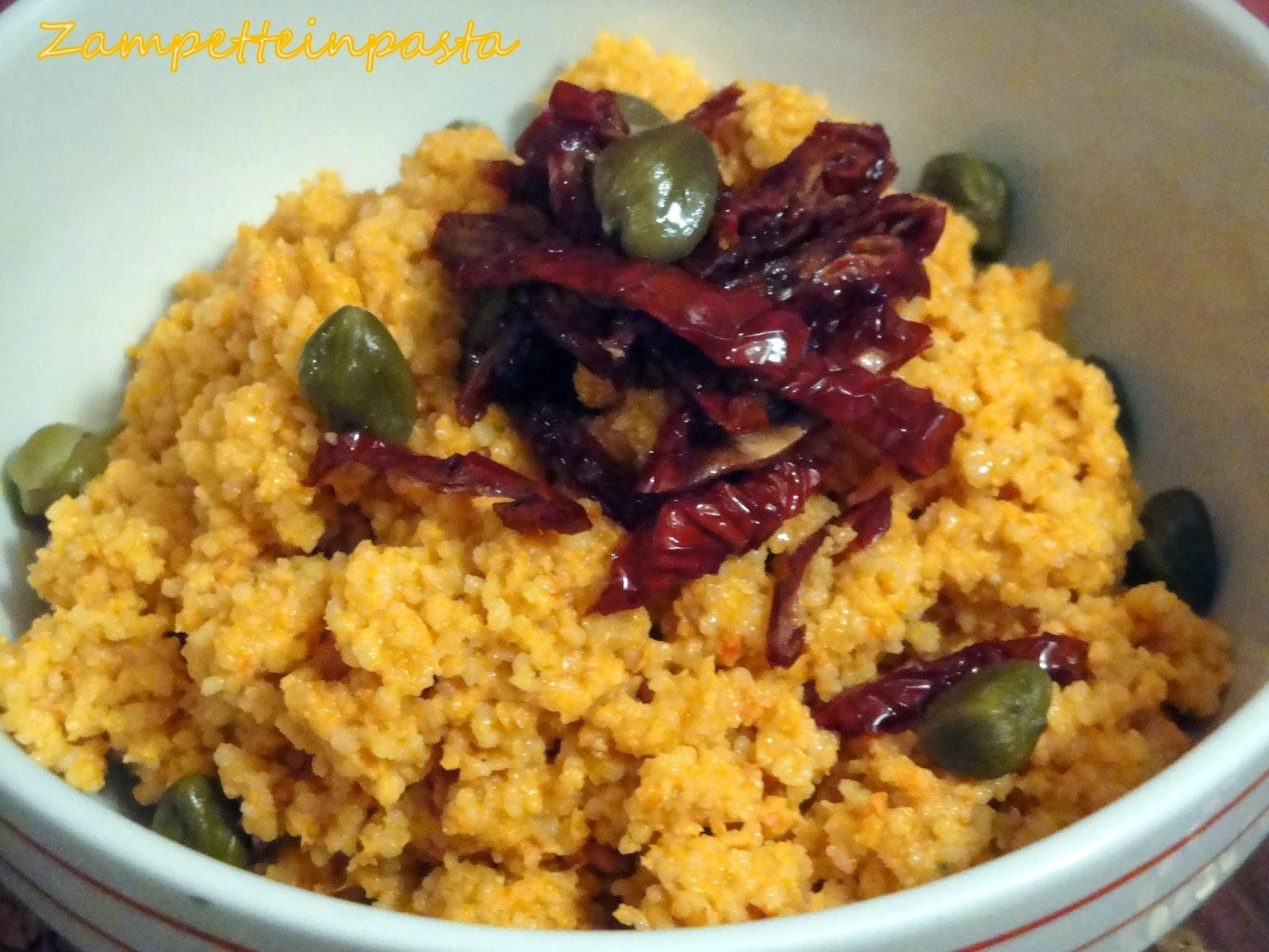 Couscous con pesto di pomodori secchi - Ricetta facile con il couscous