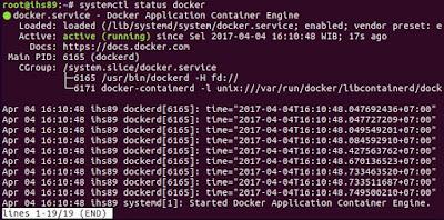 Docker Service Status
