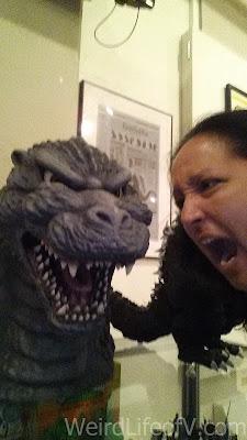 Mimicking Godzilla's expression