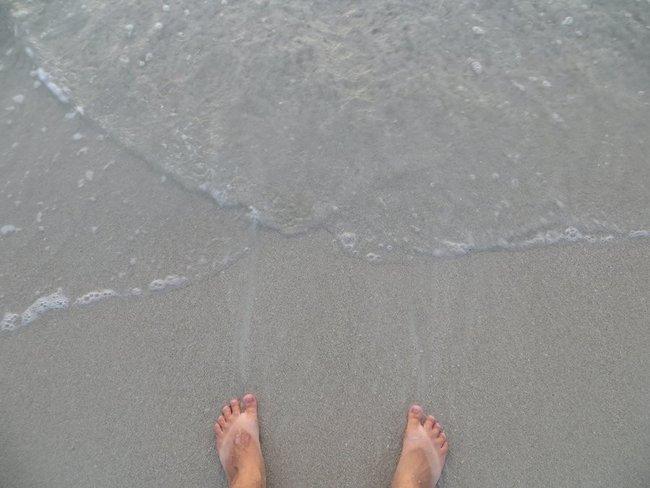 Ноги у моря