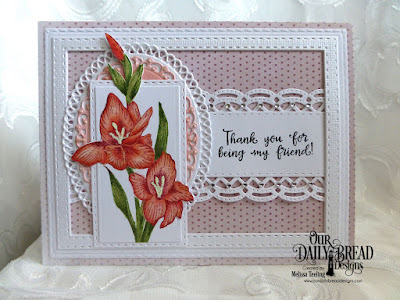 Our Daily Bread Designs Stamp Set: You Bless Me, Our Daily Bread Designs Custom Dies: Ornate Ovals, Beautiful Borders, Double Stitched Rectangles, Majestic Medallion, Our Daily Bread Designs Paper Collection: Shabby Rose