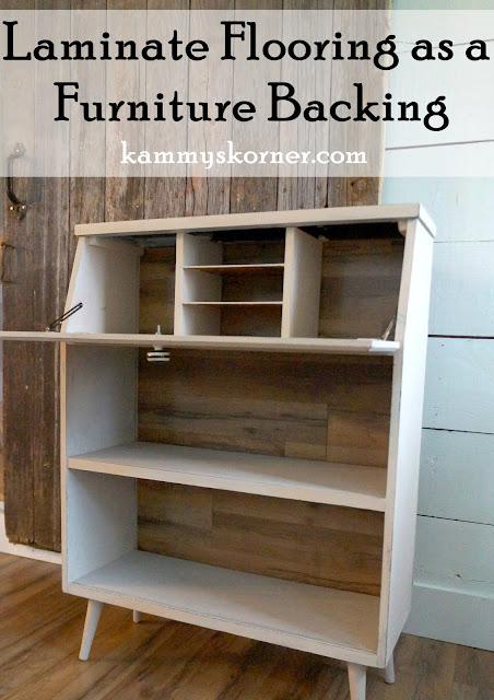 Kammy S Korner Backing A Drop Front Desk Cabinet With