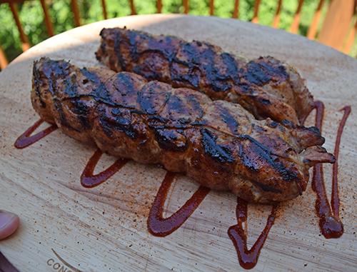 Saber Grill's superior infrared technology provides always juicy pork tenderloins.
