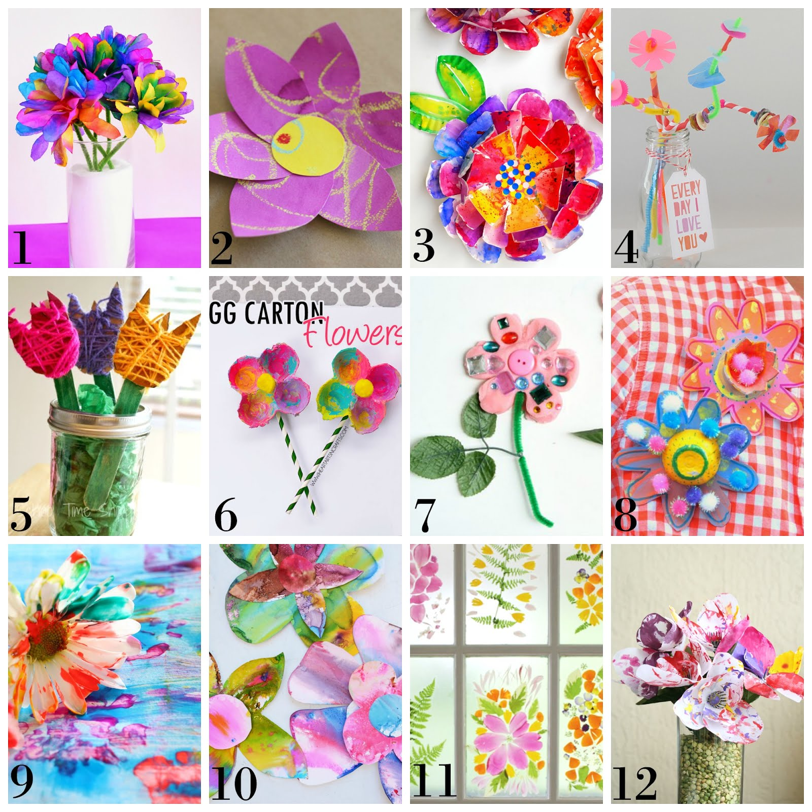 12 Beautiful Spring Flower Process Art Ideas For Kids From Fun At Home With