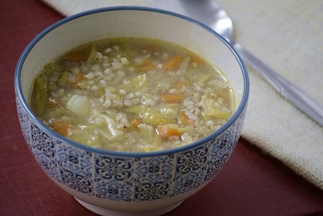 Sopa de puerros y trigo sarraceno
