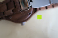 Uhr: Holz Armbanduhr 360° Nut