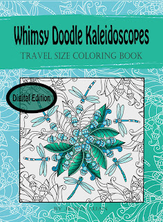 Digital PDF whimsy doodle kaleidoscopes travel size coloring book