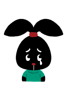 ぴょこの表情のイラスト「泣いた顔」