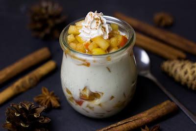 Compota con yogur