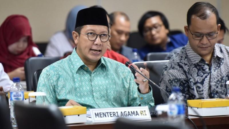 Menteri Agama Lukman Hakim Saifuddin di Gedung DPR