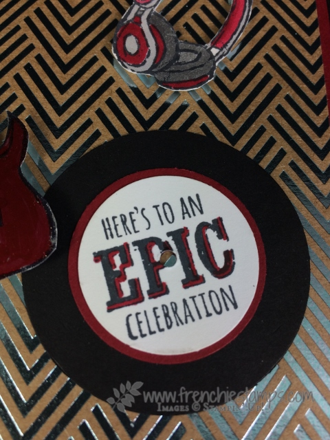 Epic Celebration, Stampin Up! sale a Bration , Stampin' Blends, Foil Paper, Frenchie Stamps,