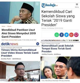 Siswa Teriak 2019 Ganti Presiden Dicari Mendikbud