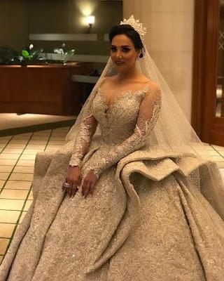 مجموعة من افخم فساتين زفاف مصمم الازياء احمد العقاد