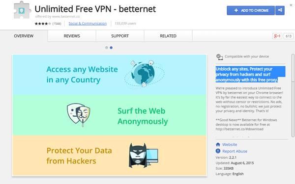 افضل اضافات VPN مجانية لمتصفح جوجل كروم