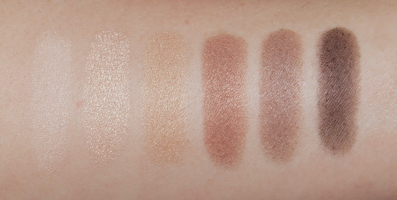 collection eyes uncovered nude eyeshadow palette swatches white chocolate buttercream biscuit chocolate milk brown sugar espresso