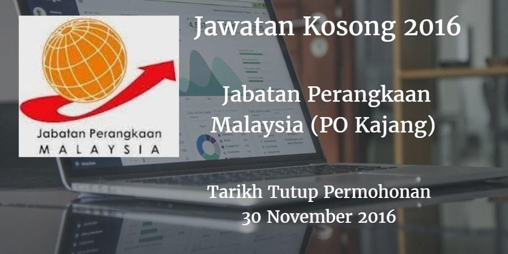 Jawatan Kosong Jabatan Perangkaan Malaysia (PO Kajang) 30 November 2016